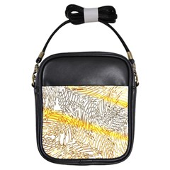 Abstract Composition Digital Processing Girls Sling Bags by Nexatart