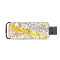 Abstract Composition Digital Processing Portable Usb Flash (one Side) by Nexatart