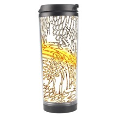 Abstract Composition Digital Processing Travel Tumbler by Nexatart