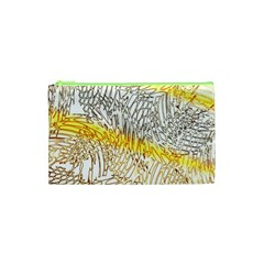 Abstract Composition Digital Processing Cosmetic Bag (xs)