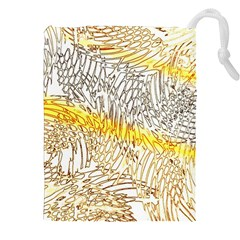 Abstract Composition Digital Processing Drawstring Pouches (xxl)