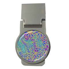 Abstract Floral Background Money Clips (round)
