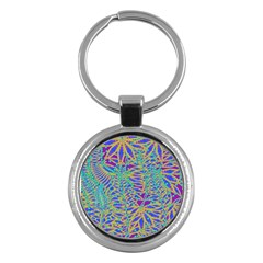 Abstract Floral Background Key Chains (round)  by Nexatart