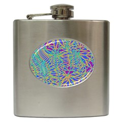 Abstract Floral Background Hip Flask (6 Oz) by Nexatart