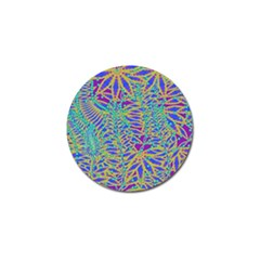 Abstract Floral Background Golf Ball Marker by Nexatart