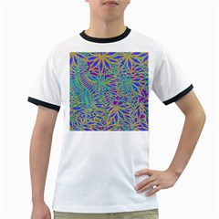 Abstract Floral Background Ringer T Shirts