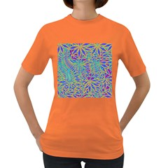 Abstract Floral Background Women s Dark T-Shirt