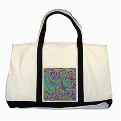 Abstract Floral Background Two Tone Tote Bag
