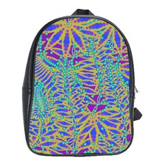 Abstract Floral Background School Bags(large)