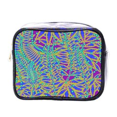 Abstract Floral Background Mini Toiletries Bags by Nexatart