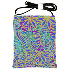 Abstract Floral Background Shoulder Sling Bags by Nexatart