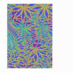 Abstract Floral Background Large Garden Flag (two Sides)