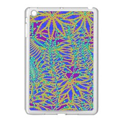 Abstract Floral Background Apple Ipad Mini Case (white)