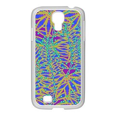 Abstract Floral Background Samsung Galaxy S4 I9500/ I9505 Case (white)