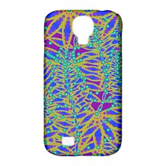 Abstract Floral Background Samsung Galaxy S4 Classic Hardshell Case (pc+silicone)