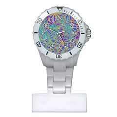 Abstract Floral Background Plastic Nurses Watch by Nexatart
