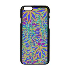 Abstract Floral Background Apple Iphone 6/6s Black Enamel Case