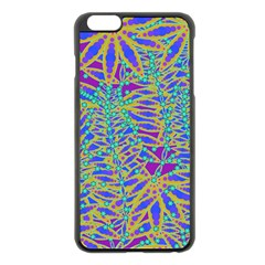 Abstract Floral Background Apple Iphone 6 Plus/6s Plus Black Enamel Case by Nexatart