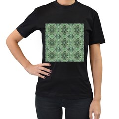 Seamless Abstraction Wallpaper Digital Computer Graphic Women s T Shirt (black) (two Sided)
