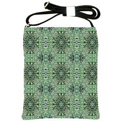 Seamless Abstraction Wallpaper Digital Computer Graphic Shoulder Sling Bags by Nexatart