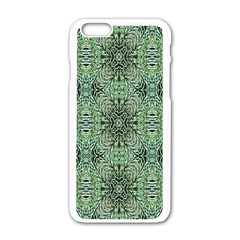 Seamless Abstraction Wallpaper Digital Computer Graphic Apple iPhone 6/6S White Enamel Case by Nexatart