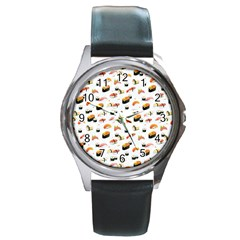Sushi Lover Round Metal Watch
