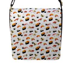 Sushi Lover Flap Messenger Bag (l)  by tarastyle