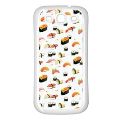 Sushi Lover Samsung Galaxy S3 Back Case (white) by tarastyle