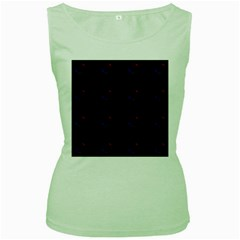 Tranquil Abstract Pattern Women s Green Tank Top