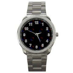 Tranquil Abstract Pattern Sport Metal Watch
