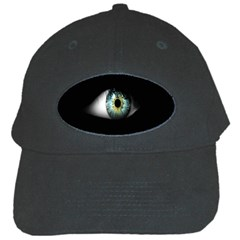 Eye On The Black Background Black Cap