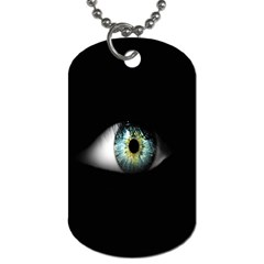 Eye On The Black Background Dog Tag (two Sides)