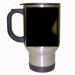 Eye On The Black Background Travel Mug (silver Gray) by Nexatart