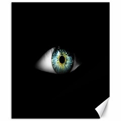 Eye On The Black Background Canvas 8  X 10  by Nexatart