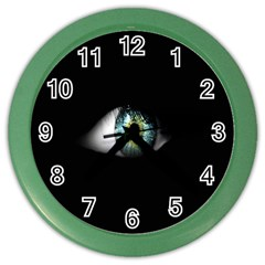 Eye On The Black Background Color Wall Clocks