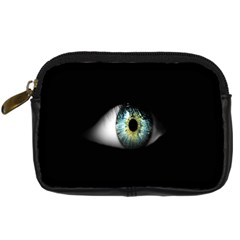 Eye On The Black Background Digital Camera Cases by Nexatart