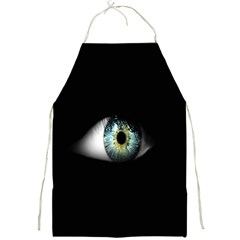 Eye On The Black Background Full Print Aprons by Nexatart