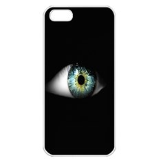 Eye On The Black Background Apple Iphone 5 Seamless Case (white) by Nexatart