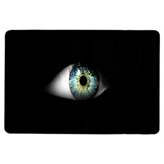 Eye On The Black Background Ipad Air Flip by Nexatart