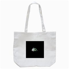 Eye On The Black Background Tote Bag (white) by Nexatart