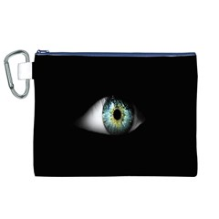 Eye On The Black Background Canvas Cosmetic Bag (xl) by Nexatart