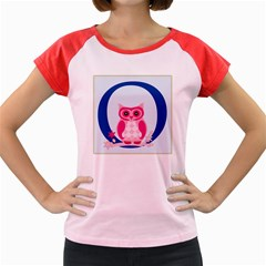 Alphabet Letter O With Owl Illustration Ideal For Teaching Kids Women s Cap Sleeve T Shirt by Nexatart