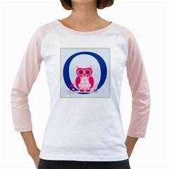 Alphabet Letter O With Owl Illustration Ideal For Teaching Kids Girly Raglans by Nexatart