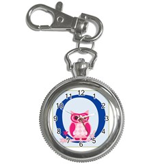 Alphabet Letter O With Owl Illustration Ideal For Teaching Kids Key Chain Watches