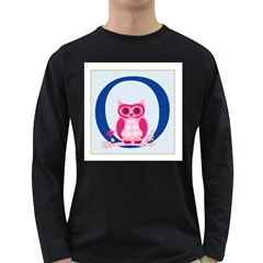 Alphabet Letter O With Owl Illustration Ideal For Teaching Kids Long Sleeve Dark T Shirts by Nexatart