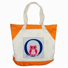 Alphabet Letter O With Owl Illustration Ideal For Teaching Kids Accent Tote Bag by Nexatart