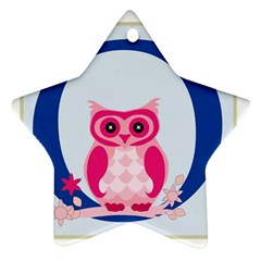 Alphabet Letter O With Owl Illustration Ideal For Teaching Kids Star Ornament (two Sides)