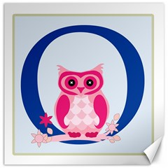 Alphabet Letter O With Owl Illustration Ideal For Teaching Kids Canvas 20  X 20   by Nexatart