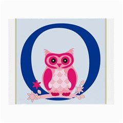 Alphabet Letter O With Owl Illustration Ideal For Teaching Kids Small Glasses Cloth (2 Side) by Nexatart