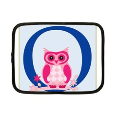 Alphabet Letter O With Owl Illustration Ideal For Teaching Kids Netbook Case (small)  by Nexatart